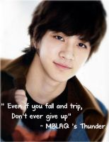'Even if you fall and trip...' MBLAQ Thunder by Musicstar128