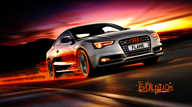 Audi S5 Flame Wallpaper by TheEvOlLuTiOnS