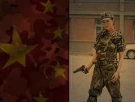 Chinese female soldier. by CFJops