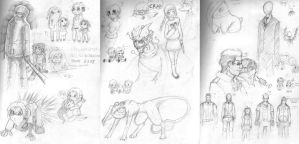 Uninspired Mess of Sketches by Koskish