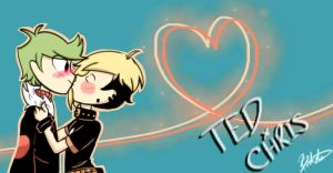 Ted x Chris Wallpaper by Bratcole