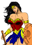 Wonder Woman by dannith with glowing lasso. by X-Bra