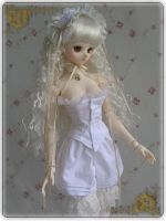 Dollfie Dream costume: underwear of white dress by NoineT
