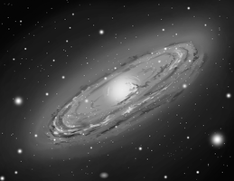 Grayscale Galaxy by Anax253