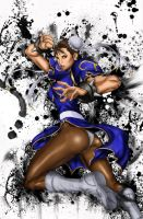 sf4:chun-li by ElecoMoroco