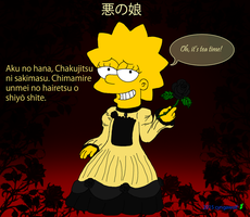 Lisa Simpson Daughter Of Evil by cyngawolf