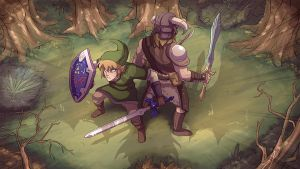 Link's got your back Dovahkiin by CauseImDanJones