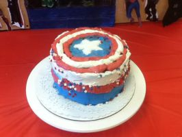Captain America Cake by Mike-The-Winner