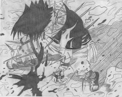 Sasuke Saves Naruto by monkeyfunky