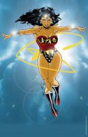 Wonder Woman in the clouds by martheus