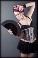 Burlesque Victorian stripes by Elysionshop