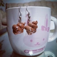 poo earrings by Love-Who