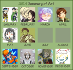 2014 Art Summary by cinderhawk