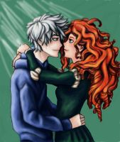 Jack Frost X Merida by princess1Merida