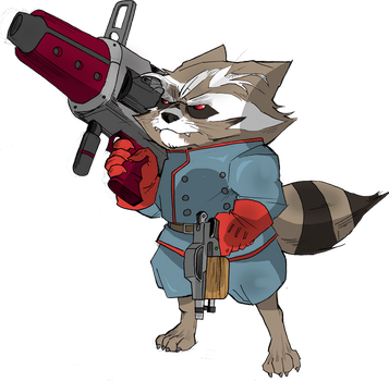 The Rocket Raccoon by Egory