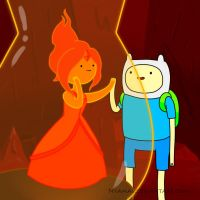 Finn and Flame Princess by Nyamas