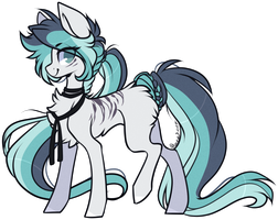 AUCTION : Blue-Grey Pony (closed) by D-Dyee
