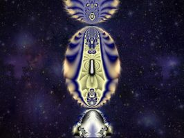 Galactic Wave Totem by catelee2u