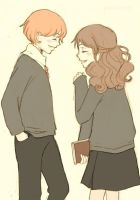 Hermione and Ron by smartha