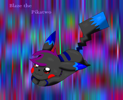 G:Blaze the Pikatwo by SkyBlueArts