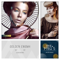 Pack Png 146 - Golden Enigma. by SensePngs