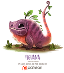 Day 1410. Figuana by Cryptid-Creations