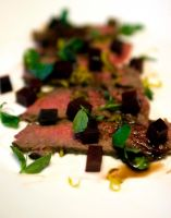 Flank Steak and Beets by ThomasVo