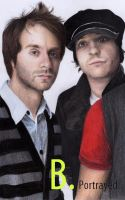 Seb and David from Simple Plan by B-Portrayed