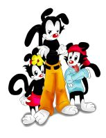 Yakko, Wakko, and Dot by TheRealPennyLane
