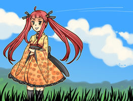 Fine day on a field by Temima