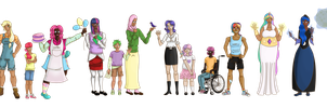 Humanized Ponies by PicklePieCow