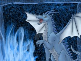 Blue Fire Dragon by Burntfur