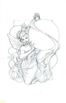 Peace on Earth Lineart by TerryDodson