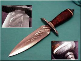 Red Micarta Composite by CrystalBlood07