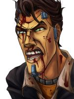 Handsome Jack Colored Lineart by summerintevinter