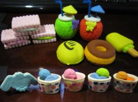 Food Erasers 4.0 by justinedarkchylde