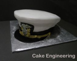 Naval Officer Hat Cake by cake-engineering