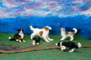 All The Dogs- Felted Fuzzies by feltAliza