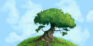 Panoramic Summer Tree by albundyland