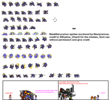 Metal Garurumon Sprite sheet by Maxtyrannus