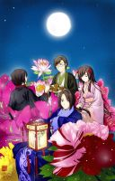 Happy Mid autumn Day 2012 by kenwntanabata