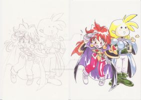 Slayers Fan Art-Lina and Gourry by WhiteMagicPriestess