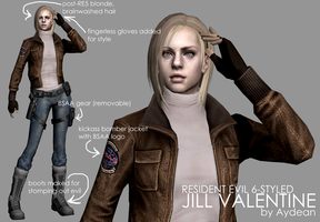 RE6 Jill Valentine by aydean