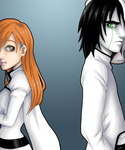 Orihime and Ulquiorra by Hoshi-Suzume