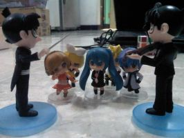 conan + vocaloids orchestra by margarethere