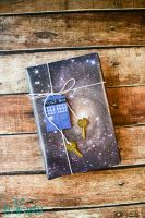 Space/Doctor Who gift wrapping paper tutorial by tikkido