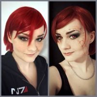 Mass Effect - Commander Shepard Makeup Test by YumiKoyuki
