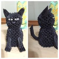 3D Origami Cat by Joeseares96
