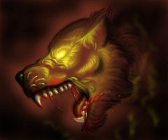 Lycan head by FuriarossaAndMimma