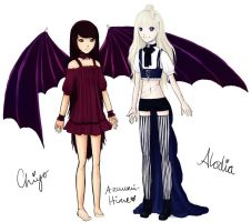 Chiyo And Alodia Reference by Azuumi-Hime